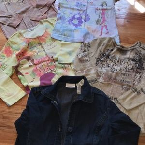 5pcs Womens Jean jacket n assorted shirts